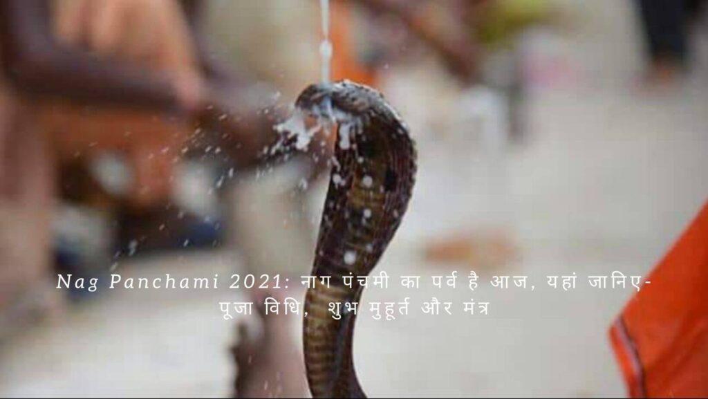 Nag Panchami 2021: नाग पंचमी का पर्व है आज, यहां जानिए-पूजा विधि,  शुभ मुहूर्त और मंत्र